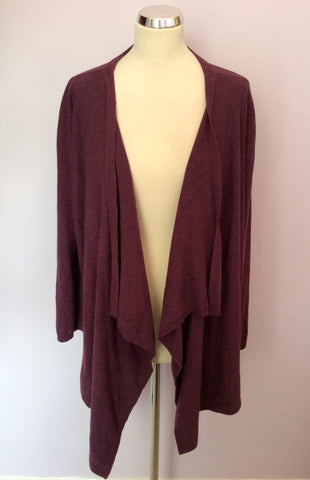 James Lakeland Plum Wool Blend Cardigan Size 18 - Whispers Dress Agency - Womens Knitwear - 1