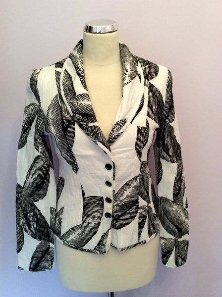 Gerry Weber Black & White Print Cotton Jacket Size 10 - Whispers Dress Agency - Womens Coats & Jackets - 1