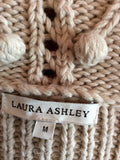 Laura Ashley Beige Crop Wool Blend Cardigan Size M - Whispers Dress Agency - Womens Knitwear - 3