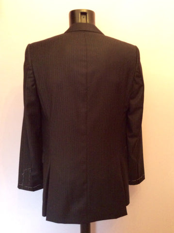 BRAND NEW EX SAMPLE JAEGER BLACK STRIPE WOOL SUIT JACKET SIZE 38L - Whispers Dress Agency - Mens Suits & Tailoring - 3