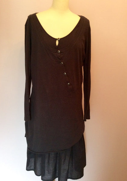 Sandwich Dark Blue Layered Dress Size XL - Whispers Dress Agency - Sold - 1