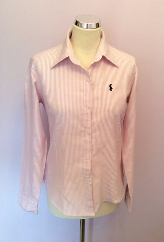 Polo By Ralph Lauren Pink & White Stripe Cotton Shirt Size XL - Whispers Dress Agency - Sold - 1