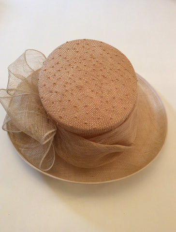 Brand New Straw Bow Trim Formal Hat - Whispers Dress Agency - Womens Formal Hats & Fascinators - 4