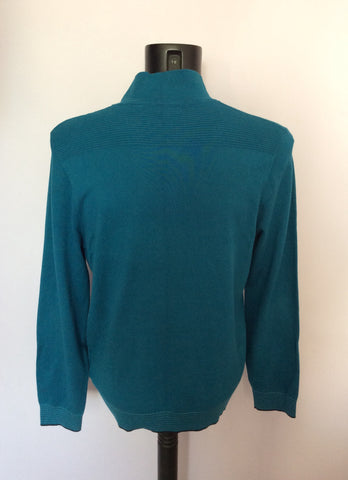 Ted Baker Turqouise V Neck Jumper Size 4 Approx M/L - Whispers Dress Agency - Mens Knitwear - 2
