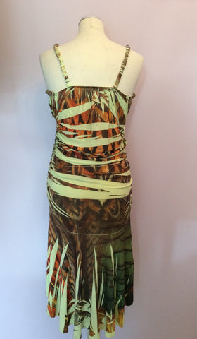 Kasike Green & Brown Print Strappy Dress One Size - Whispers Dress Agency - Womens Dresses - 2