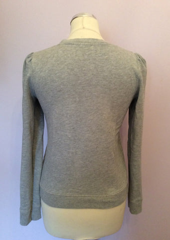 Whistles Light Grey Embroidered Bow Sweatshirt Size 10 - Whispers Dress Agency - Womens Activewear - 2