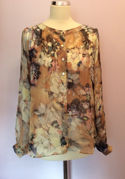 Laura Ashley Floral Print Silk Blouse Size 16 - Whispers Dress Agency - Sold - 1