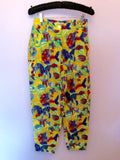 Vintage Jaeger Yellow Print Crop Top & Trousers Approx Size 6/8 - Whispers Dress Agency - Sold - 4