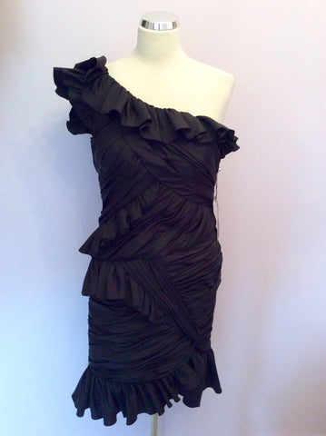 Brand New Forever Unique Black Cocktail Dress Size 10 - Whispers Dress Agency - Womens Dresses - 1