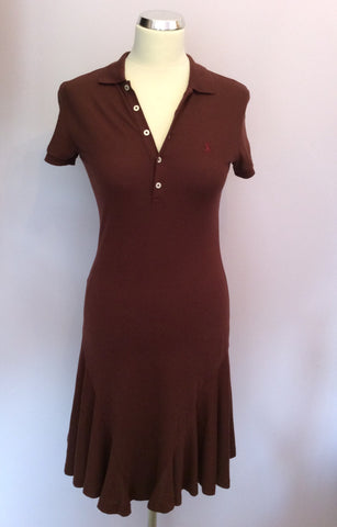 Brand New Ralph Lauren Polo Brown Wimbledon Dress Size XS - Whispers Dress Agency - Sold - 1