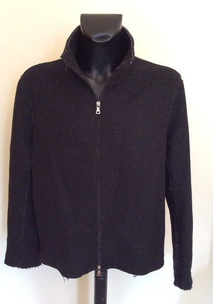 Prada Charcoal Grey Wool Blend Zip Up Jacket Size XL - Whispers Dress Agency - Sold - 1