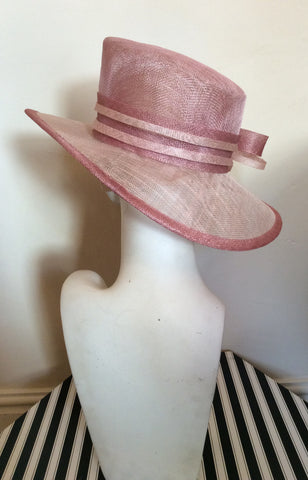 Debut Pale & Dusky Pink Bow Trim Formal Hat - Whispers Dress Agency - Womens Formal Hats & Fascinators - 3
