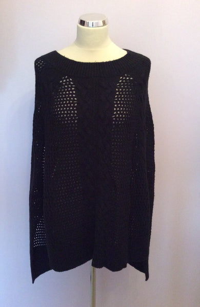 All Saints Erbus Black Poncho One Size - Whispers Dress Agency - Sold - 1