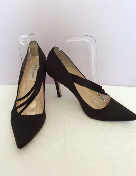 LK Bennett Black Satin Heels Size 6/39 - Whispers Dress Agency - Sold - 1