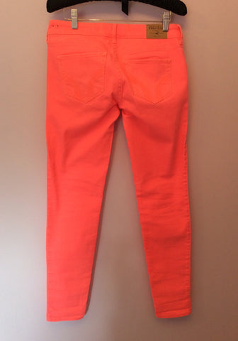 New Hollister Neon Orange Jeans Size 27W/29L - Whispers Dress Agency - Womens Jeans - 2