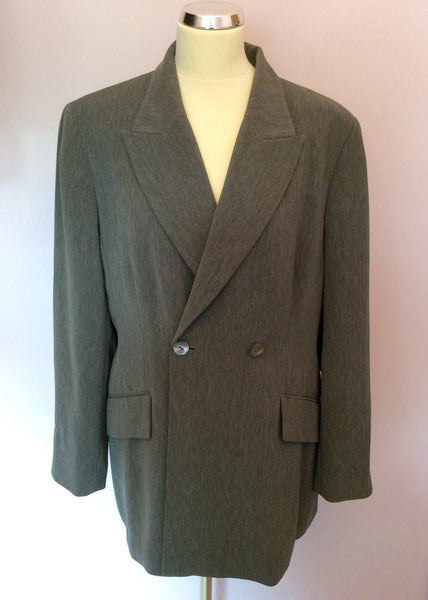 Vintage Jaeger Grey Double Breasted Jacket Size 18 - Whispers Dress Agency - Sold - 1