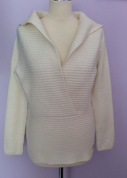 Betty Barclay Ivory Hooded Jumper Size 14 - Whispers Dress Agency - Sold - 1