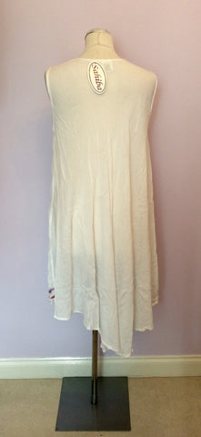 BRAND NEW SAHIBA WHITE SUMMER DRESS ONE SIZE - Whispers Dress Agency - Womens Dresses - 2