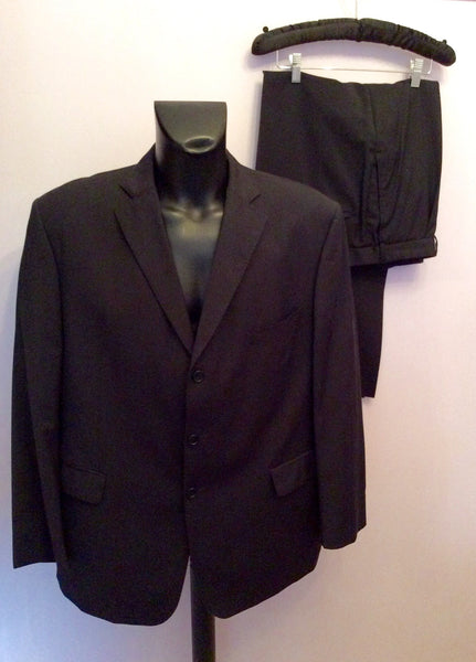 Marks & Spencer Navy Blue Merino Wool Suit Size 48/38W/29L - Whispers Dress Agency - Sold - 1