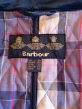 Barbour Black Valerie Quilted Trench Coat Size 16 - Whispers Dress Agency - Sold - 4