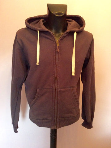 Jack Wills Dark Grey Hooded Zip Up Top Size XS - Whispers Dress Agency - Mens Activewear - 1
