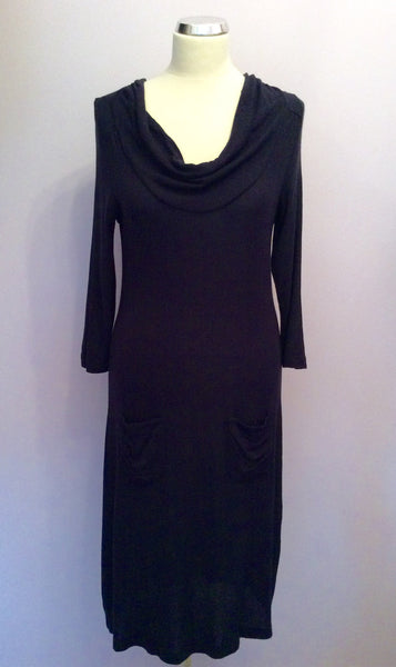 Betty Barclay Dark Blue Knit Dress Size 16 - Whispers Dress Agency - Sold - 1