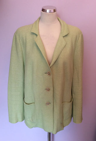 ARTIGIANO LIGHT GREEN WOOL BLEND JACKET SIZE 20 - Whispers Dress Agency - Womens Coats & Jackets - 1