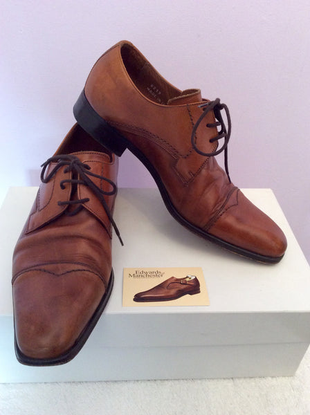 Edwards 1830 Tan Brown Leather Lace Up Shoes Size 7 /41 - Whispers Dress Agency - Mens Formal Shoes - 1