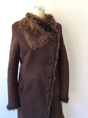 JOSEPH DARK BROWN LAMBSKIN COAT SIZE 40 UK 12 - Whispers Dress Agency - Womens Coats & Jackets - 3