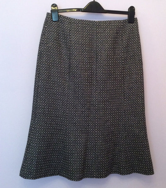 Hobbs Grey & Pink With Silver Fleck Wool Skirt Size 12 - Whispers Dress Agency - Sold - 1