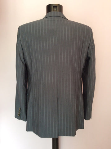 Hugo Boss Grey Pinstripe Wool Suit Size 38R /36W - Whispers Dress Agency - Mens Suits & Tailoring - 4