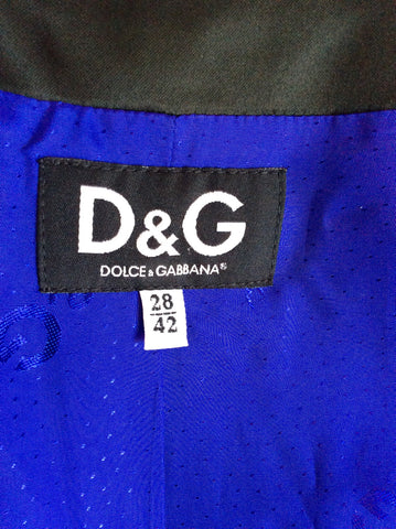 DOLCE & GABBANA BLACK MATT SATIN JACKET SIZE 42 UK 10 - Whispers Dress Agency - Sold - 4