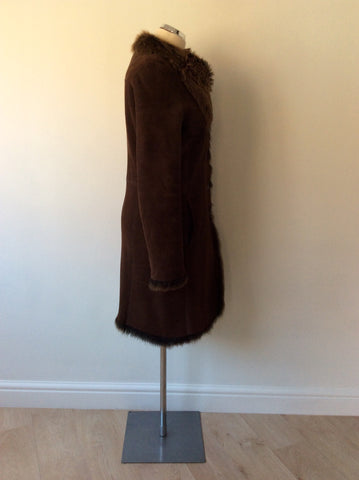 JOSEPH DARK BROWN LAMBSKIN COAT SIZE 40 UK 12 - Whispers Dress Agency - Womens Coats & Jackets - 4