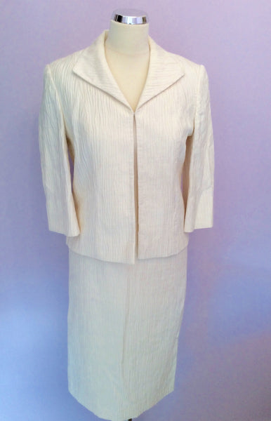 Minuet Ivory Pencil Dress & Jacket Suit Size 8/10 - Whispers Dress Agency - Womens Suits & Tailoring - 1