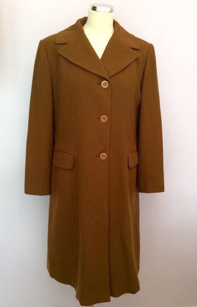 Ronit Zilkha Brown Wool & Cashmere Coat Size 16 - Whispers Dress Agency - Sold - 1