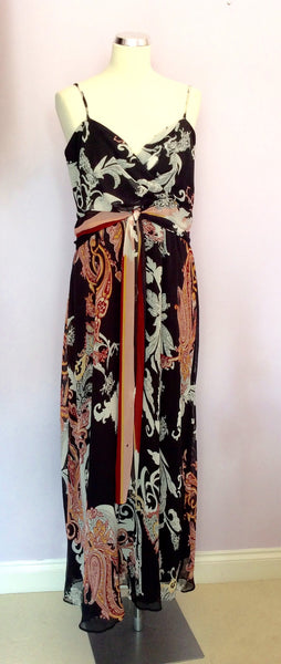 Marks & Spencer Autograph Black Print Maxi Dress Size 18 - Whispers Dress Agency - Womens Dresses - 1
