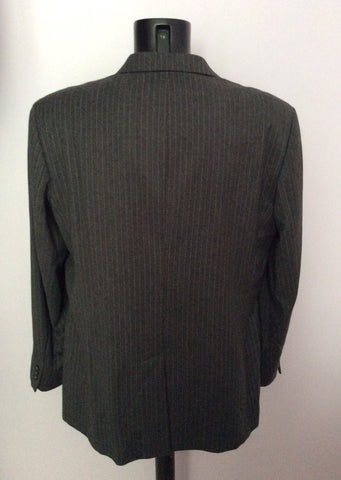 Smart FCUK Formal Grey Pinstripe 100% Wool Suit Size 44R/38W - Whispers Dress Agency - Mens Suits & Tailoring - 3