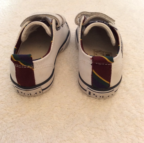 Ralph Lauren Polo Infant White Leather Shoes Size 4.5/21 - Whispers Dress Agency - Baby - 3