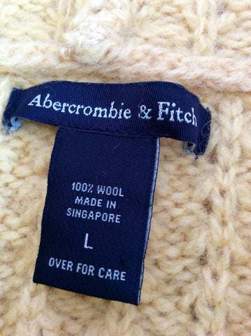 Girls Abercrombie & Fitch Yellow Hooded Jumper Size L - Whispers Dress Agency - Girls Knitwear - 3
