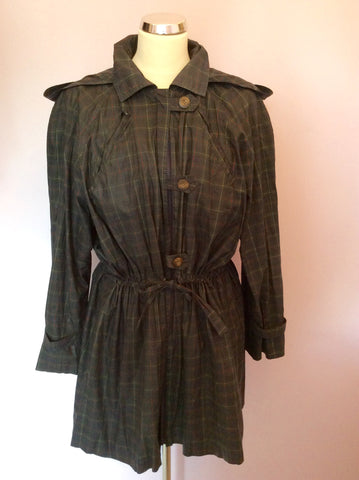 Vintage Jaeger Green Check Cotton Jacket Size S - Whispers Dress Agency - Womens Vintage - 1