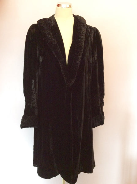 BLACK VELVET OCCASION EVENING COAT SIZE 14/16 - Whispers Dress Agency - Sold - 1
