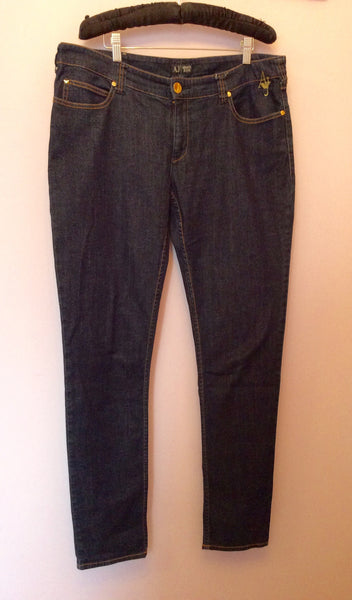 Armani Indigo Blue Series 010 Jeans Size 33, 36W/34L - Whispers Dress Agency - Sold - 1
