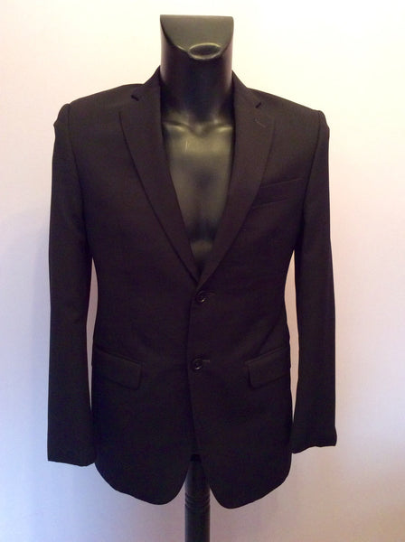DKNY Dark Blue Wool Blend Suit Jacket Size 36S - Whispers Dress Agency - Mens Suits & Tailoring - 1