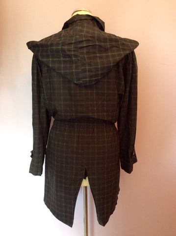 Vintage Jaeger Green Check Cotton Jacket Size S - Whispers Dress Agency - Womens Vintage - 4