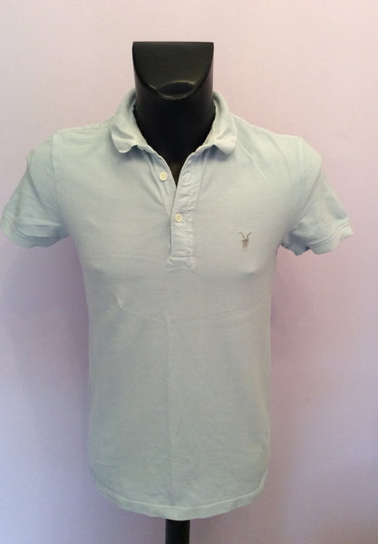 All Saints Light Blue Short Sleeve Polo Shirt Size S - Whispers Dress Agency - Mens Casual Shirts & Tops - 1