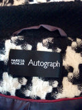 Marks & Spencer Autograph Black & White Dogtooth Coat Size 10 - Whispers Dress Agency - Sold - 4