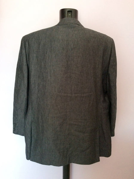 Austin Reed Dark Grey Linen Suit Jacket Size 50r Whispers Dress Agency