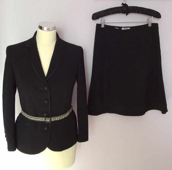 Moschino Cheap And Chic Black Skirt Suit Size 8/10 - Whispers Dress Agency - Womens Suits & Tailoring - 1