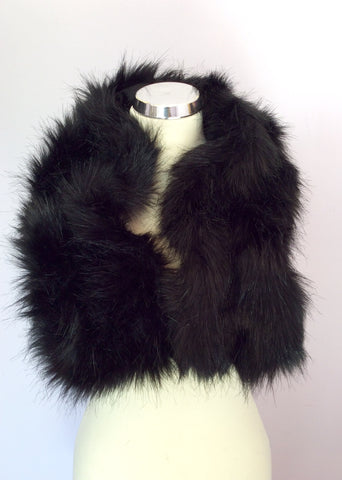 Black Faux Fur Scarf - Whispers Dress Agency - Womens Scarves & Wraps - 2