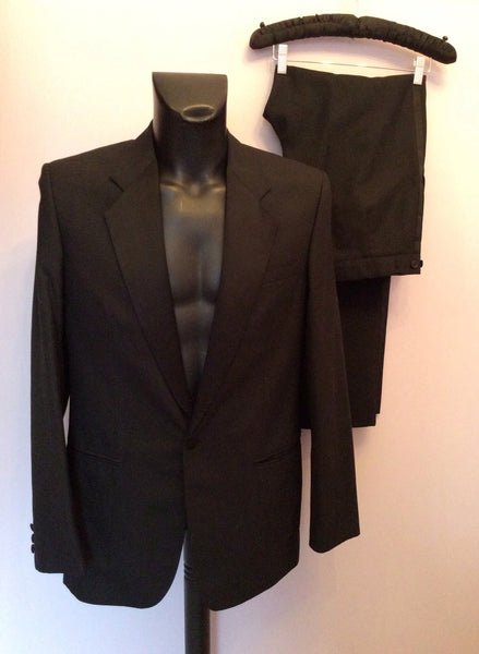 The Label Black Wool Blend Tuxedo Suit Size Chest W34/L40 - Whispers Dress Agency - Mens Suits & Tailoring - 1